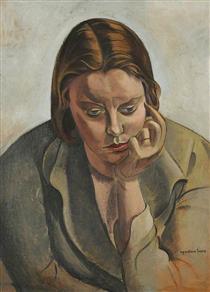 Pensive Head - Wyndham Lewis
