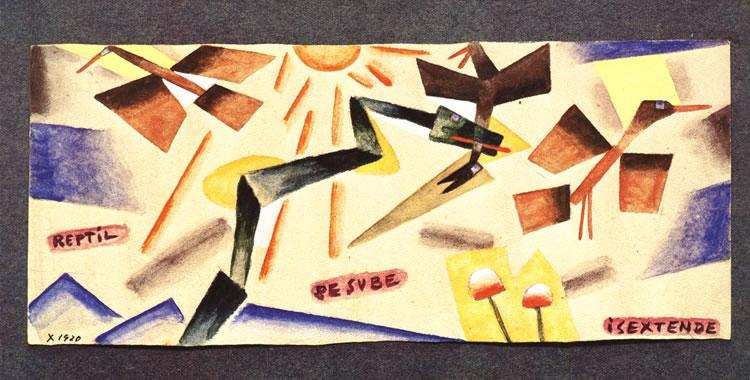 Reptil que sube, 1920 - Xul Solar
