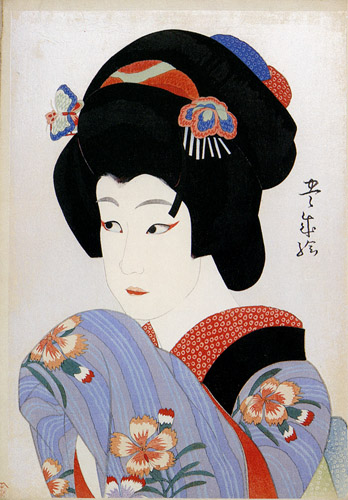 Ichikawa Shocho II as Oman, 1920 - Yamamura Toyonari
