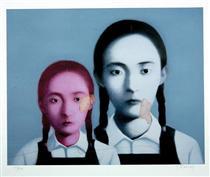 Two Sisters - Zhang Xiaogang